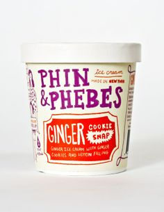 Lettering Ice Cream Package