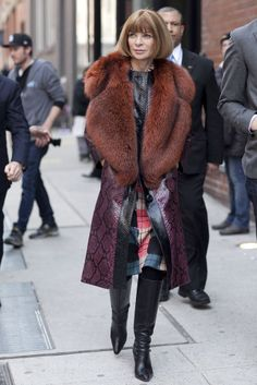 Manhattan, NY - Street fashion Anna Wintour