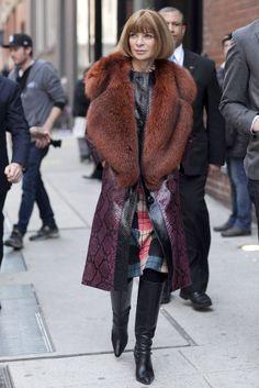 Manhattan, NY - Street fashion Anna Wintour
