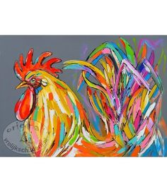 Rooster in color Rooster, Painting Videos, Animals, Color, Colour, Animaux, Animales, Roosters, Animal