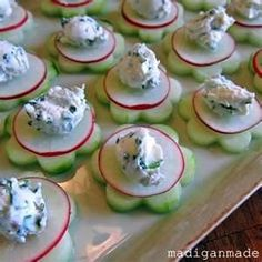 cucumber radish appetizers more diy ideas cucumber flower wedding ...
