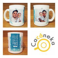 Caneca personalizada Cacáneka cacaneka dia dos pais foto bebê criança baby cute
