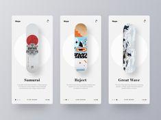 Coolest Designs Ever - Coolest Website Designs, Workspaces, Logo's - UI - Web skateboard-mobile-website-design - Website Design Inspiration, Website Design Layout, Layout Design, Website Designs, Daily Inspiration, Web Layout, Mobile App Design, Mobile Ui, Mobile Code