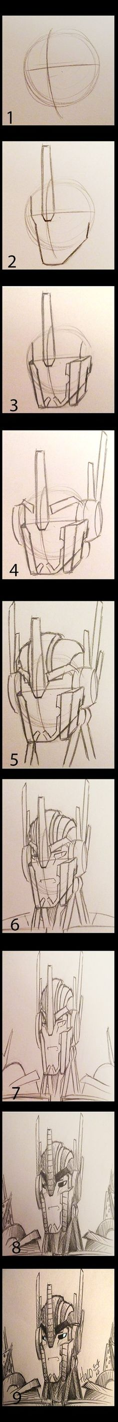 How to draw Tfp Optimus prime