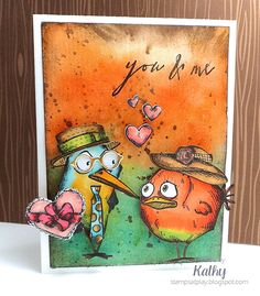 Kathy Schweinfurth, Stamps At Play: Tim Holtz Bird Crazy, Copic Markers