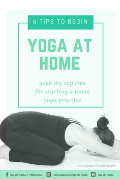 Thinking of starting yoga from the comfort of your own home?  This guide is designed to help you establish your 'why', give you tips on how to create time & space to practice PLUS help establish your yoga 'groove'.  Download it for free!  Follow me on Facebook, Instagram and YouTube for more insights, hot tips and yoga resources.  www.yogawithtulletha.com