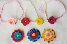DIY Felt Hair Accessories - Craft Crazy Mom