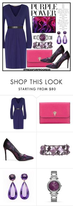 """International Women's Day: Purple Power"" by terryandjim ❤ liked on Polyvore featuring Roberto Cavalli, Valextra, Carlos by Carlos Santana, Allurez, purplepower, internationalwomensday and pressforprogress"