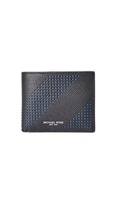 Michael Kors Mens Harrison Leather Billfold Black One Size >>> Check this awesome product by going to the link at the image. Note: It's an affiliate link to Amazon #MenLuxuryWallet