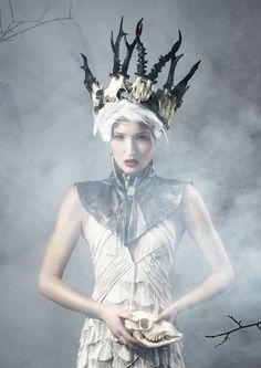 ♕ Crown Couture ♕ horn headdress crown