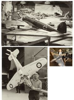 Battle of Britain-filming models