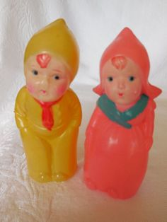 pair of Occupied Japan celluloid dolls