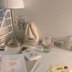 Study Desk, Study Space, Study Room Decor, Bedroom Decor, Desk Inspiration, Desk Inspo, Cream Aesthetic, Study Corner, Aesthetic Room Decor