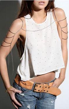 Body chains.
