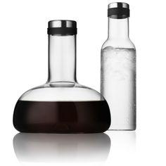 Zestaw 2 karafek - oddychająca do wina i do wody - DECO Salon #forher #gift #winelovers #water #carafe