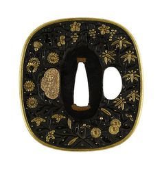 Japanese - Tsuba with Autumn Flowers - Walters 51294 - Back - Japanese sword mountings - Wikipedia, the free encyclopedia