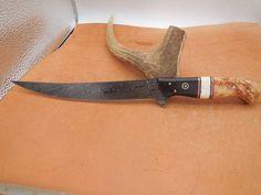 handmade damascus fillet knife Custom Hunting Knives, Axe Handle, Aspen Wood, Skinning Knife, Fillet Knife, Knife Handles, Steel Bar, Chef Knife, Damascus Steel