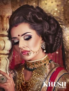 An intricate hair and makeup look by Julie Ali Mua featuring BAMBI BAINS  +44(0)7940 007 009 info@julieali.com www.julieali.com  Outfit: Revaaj by KV  Jewellery: Deeya Jewellery Bangles: The Lotus London Props: Majestic Events & Decor
