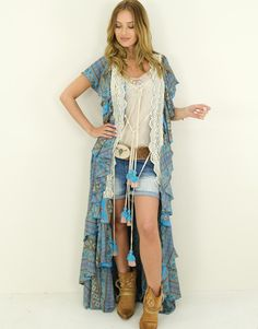 Kimono Morena What To Wear Today, How To Wear, Ibiza Fashion, Kimono Top, Casual Outfits, Clothes, Style, Fashion Styles, Outfits