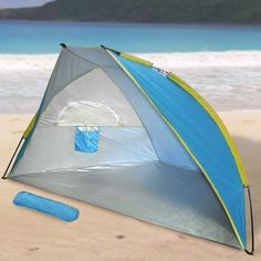 Bestchoiceproducts Portable Pop Up Beach Tent Cabana Camping Outdoor Sun Shelter Shade Umbrella New