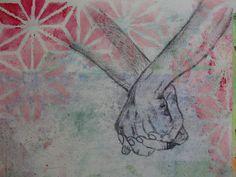 Mixed media and pencil drawing