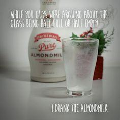 Who drank the almondmilk?