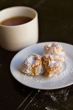 Chewy Almond Macaroons, made with almond paste.