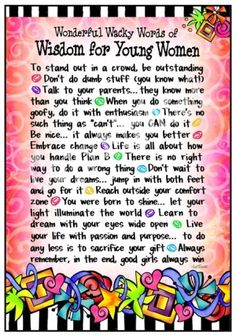 For all young women!