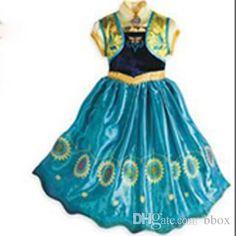 58a013ba2 Frozen Fever Dresses 2015 Summer New Dress Anna Pincess Dress Girls Party  Dress Baby Kids Cosplay