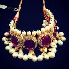 Follow @thejewellcloset . Stunning Diamond & Ruby, Pearl Choker by @sanjay_kasliwal . follow@thejewellcloset Follow @thejewellcloset Follow@thejewellcloset Follow @thejewellcloset Follow @thejewellcloset ➖➖➖➖➖➖➖➖➖➖ Follow @thejewellcloset Follow@thejewellcloset Follow @thejewellcloset Follow @thejewellcloset➖➖➖➖➖➖➖➖➖ ➖ ➖ ➖ ➖ ➖ .. #diamonds#rosegold #necklace #brooch #jewellcloset #finejewelry#jewelry#jewellery#antiquejewelry#jewels #jewelrydesigner#glam#voguemagazine#... Pearl Choker, Pearl Necklace, Shades Of Red, Diamond Jewelry, Fine Jewelry, Fashion Jewelry, Jewelry Design, Chokers, Sparkle
