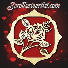 Wood Rose plaque