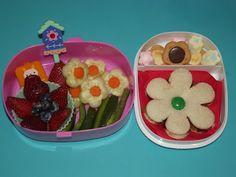 flower bento lunch