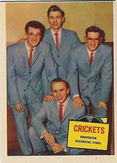 Buddy Holly & the Crickets....Bubble Gum Trading Card