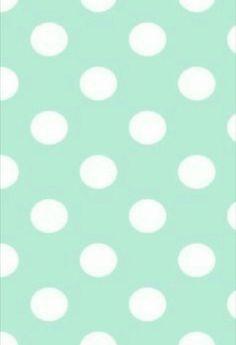 Mint & white polka dots.