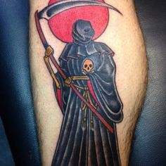 Find out Best 50 Horrible Grim Reaper Tattoos Designs and meanings 2019 collection for men and women tattoo drawing ideas to everyone ! Tatuaje Grim Reaper, Grim Reaper Tattoo, Arte Tribal, Tattoo Designs And Meanings, Tattoo Models, Tattoos, Nice, Awesome, Check