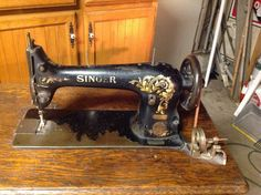 Antique Singer pedal sewing machine