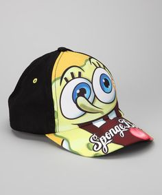 f5d8047ffb3 Take a look at this Yellow  amp  Black SpongeBob Baseball Cap by Nickelodeon  Friends Collection