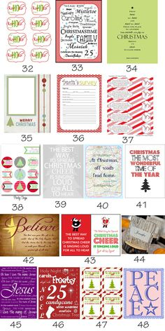 {Roundup} Tons of Free Christmas Printables