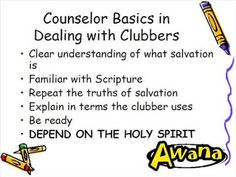 A great video by AWANA teaching on how  to lead a child to the Lord.