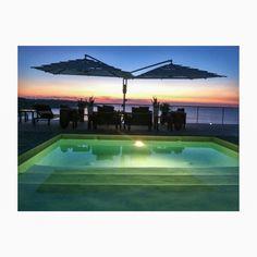More sunset magic from Ce' Blue Villas Villas, Tennis, Magic, Sunset, Blue, Villa, Sunsets, The Sunset, Mansions