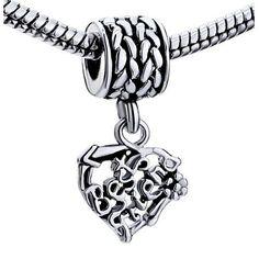Pugster® Silver Best Friend Heart Dangle Love Best Friend Charm Bracelet U53