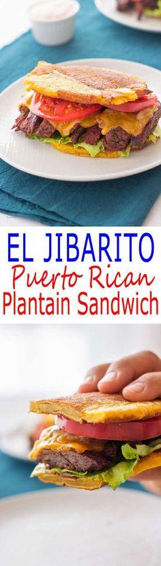 Jibarito Recipe: Puerto Rican sandwich with steak using plantains instead of bread!