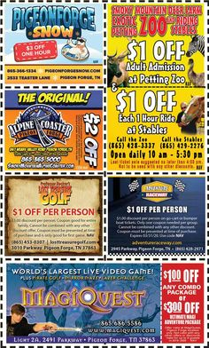 Get discounts on shows, attractions and more in Pigeon Forge and Gatlinburg, TN. Gatlinburg Coupons, Deer Farm, Mountain Vacations, Pigeon Forge, Discount Coupons, Mountains, Mom, Bergen, Mothers