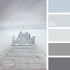 Esta paleta monocromática de tonos grises es ideal para decorar una habitación al estilo
