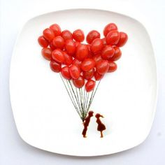 7 Incredible Snacks Recipe Cherry Tomato Ballons By Cupcakepedia, cool foods