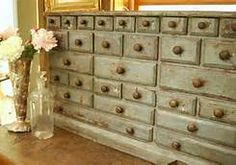 vintage apothecary cabinets