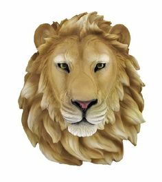 African Lion Head Mount Wall Statue Bust Leo by Private Label. $49.99. This awesome, cold cast resin replica African Lion wall mount is a prefect addition to any jungle themed room. The head measures 16 inches tall, 14 1/2 inches wide and 8 inches deep. The detail is incredible, down to the hand painted eyes.This Lion's head is brand new, and makes a great gift for any big cat fan or people who's Zodiac sign is Leo.