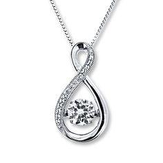 Artistry Diamonds Teardrop Necklace Black Diamond Necklace Sterling Silver pJgGx