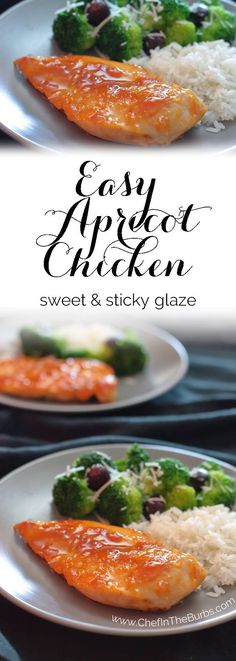 Easy Apricot Chicken - This tender chicken with its sweet and tangy glaze that is a family favorite that fast and easy enough for weeknights. Turkey Recipes, Chicken Recipes, Dinner Recipes, Chicken Ideas, Chicken Marinades, Holiday Recipes, Dinner Ideas, Apricot Chicken, Asian Chicken