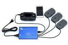 FSLabs DJI Mavic Pro 5 In 1 Rapid Battery Charger Smart Multi Battery Intelligent Charging Hub